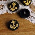 SALE40%OFFデッドストックフランスアンカー手刺繍ヴィンテージボタン anchor