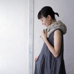画像1: SALE30%OFF【armoire*】リネン100% ボックスプリーツノースリーブワンピース